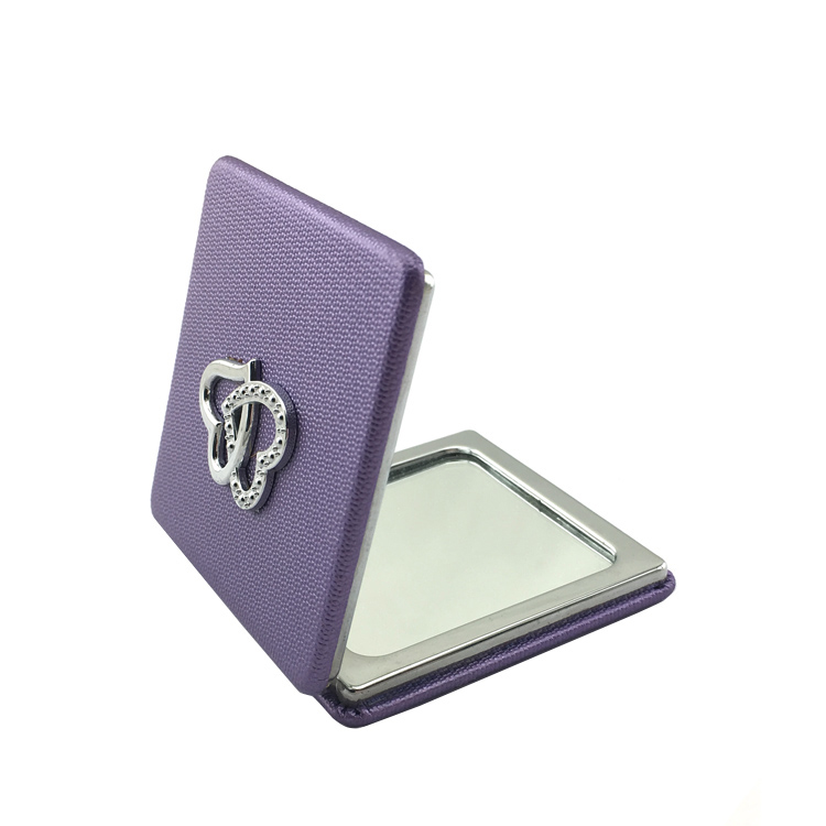 title='Small square shape metal pocket compact mirror cosmetic mirrors'