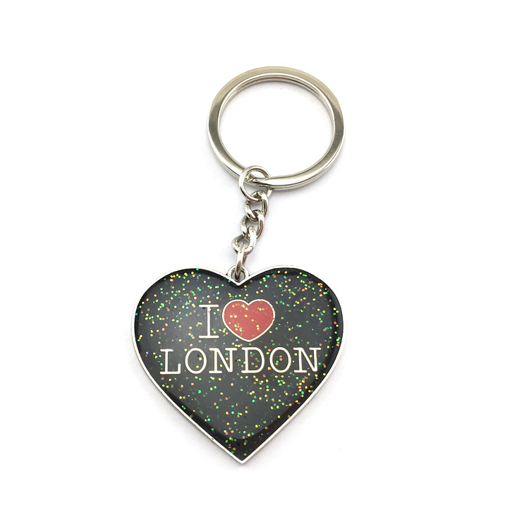 title='London tourist souvenir keychain london flag with charms'